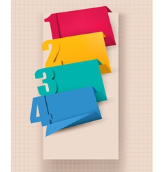Colorful tags with numbers vector image vector image
