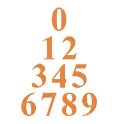 digits 09 vector image vector image