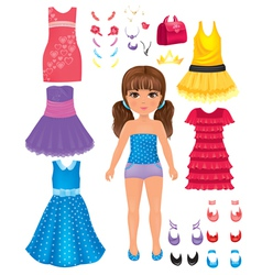 Dress girl vector image vector image
