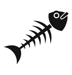 Fish bone icon simple style vector image