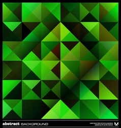 Green triangles background vector