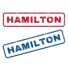 Hamilton Rubber Stamps vector image vector image