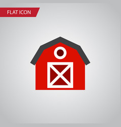 Isolated storage flat icon warehouse vector