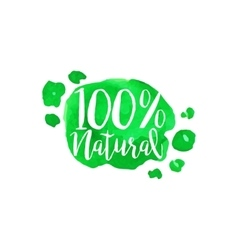 Percent natural fresh products promo sign vector