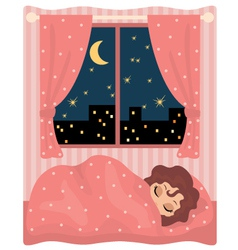 pretty girl sleeps vector image