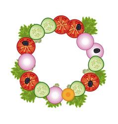 salad vegetables delicious vector image