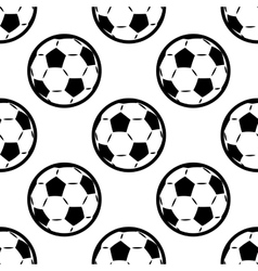 Seamless background pattern of footballs vector