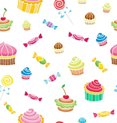 seamless with sweets vector image
