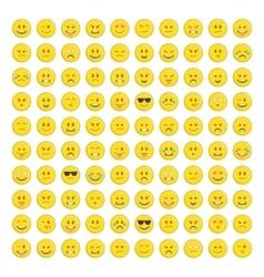 Set of emoticons icon vector
