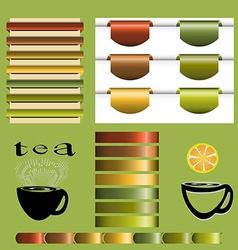 Set of tea vintage vector image
