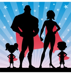 Superhero family vector