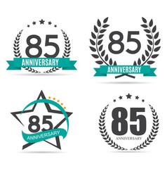 Template Logo 85 Years Anniversary Set vector image vector image