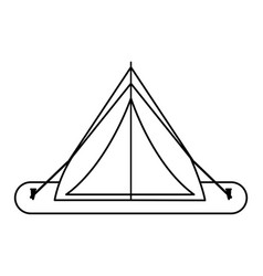 Tent camping related icon image vector