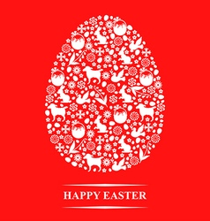 Texture egg red vector