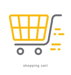 Thin line icons shopping cart vector