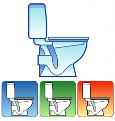 Toilet bowl on color background vector