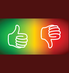 up or down thumbs vector image