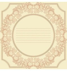 vintage frame card with strawberry vector image