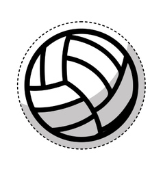 volleyball ballooon isolated icon vector image