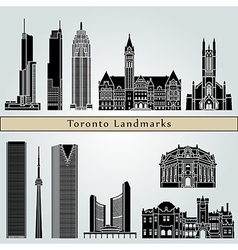 Toronto landmarks and monuments vector
