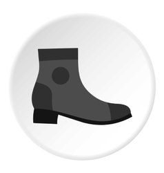 Grey boot icon flat style vector