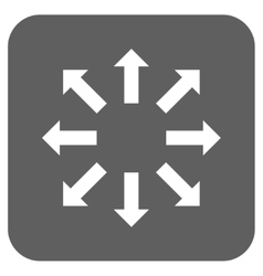 Explode arrows flat squared icon vector