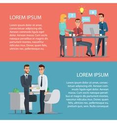 Elegant people businessman at computer cartoon vector