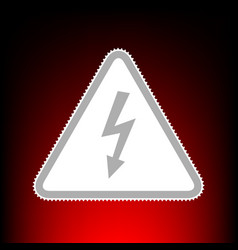 High voltage danger sign postage stamp or old vector
