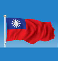 Flag of taiwan vector