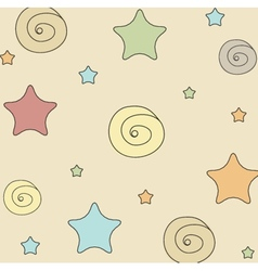 Multicolored stars seamless pattern background vector image
