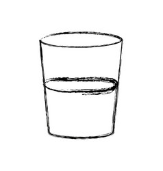 Plastic cup water fresh liquid icon vector