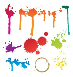 Colorful stain vector