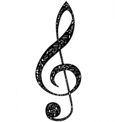 Treble clef design vector
