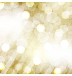 Golden bokeh vector