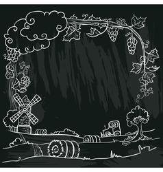 autumn farm vector image