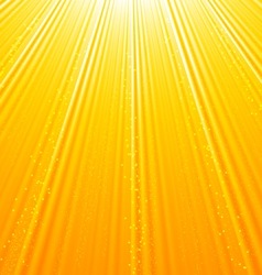 Abstract orange background with sun light rays - vector