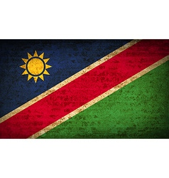 Flags namibia with dirty paper texture vector