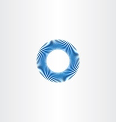 Blue circle abstract background sign vector