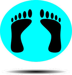 Foot print icon vector image