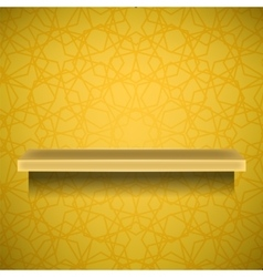 Emty yellow shelf vector