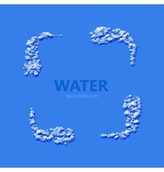 Modern creative water background vector