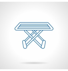 Folding drying rack flat line icon vector