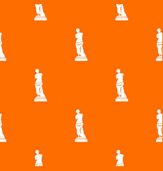 Ancient statue pattern seamless vector
