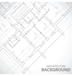 Black architecture plan vector