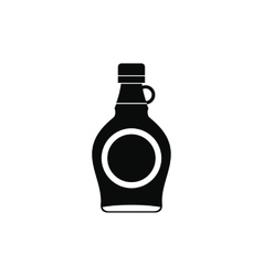 Bottle of maple syrup icon simple style vector