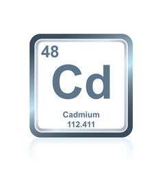 Chemical element cadmium from the periodic table vector