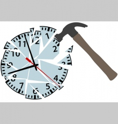 clock pieces vector image vector image