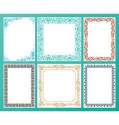 Color set ornate frames and vintage scroll vector