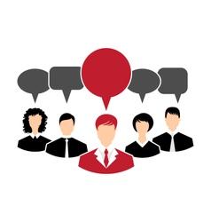 Concept of leadership dialog speech bubbles - vector
