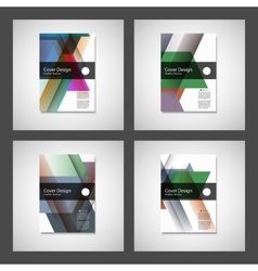 Cover design for Annual Report Catalog or vector image vector image